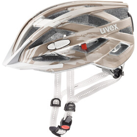UVEX City I-VO - Casco de bicicleta - marrón/blanco